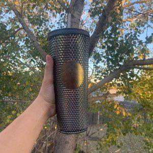 Starbucks black studded iridescent tumbler